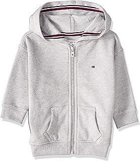 Tommy Hilfiger Girl's Essential Signature Zip Hoodie, Grey, 74 EU