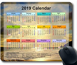 2019 Calendar Mouse Pads,Mouse mat,Starry Sky Galaxy Gaming Mouse pad