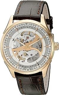 Men's H42545551 Jazzmaster Analog Display Automatic Self Wind Brown Watch