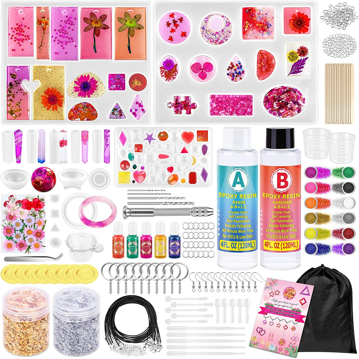 Resin Molds Kit Limited Special Price Indefinitely for Jewelry Supplies Epoxy Pcs Making 270