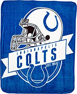 Officially Licensed NFL Grand Stand Plush Raschel Throw Blanket, 50