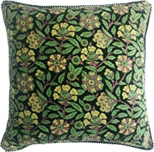 "Riva Home Lapsang Polyester Filled Cushion, Green, 45 x 45cm (18"" x 18"")"