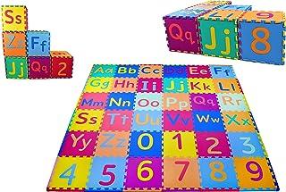 KC Cubs Soft & Safe Non-Toxic Children's Interlocking Multicolor Exercise Puzzle Educational ABC Alphabet EVA Play Foam Ma...