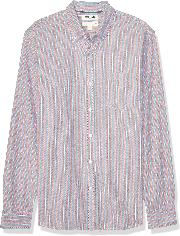 Goodthreads Men's Standard-Fit Weekly update Shirt Oxford Louisville-Jefferson County Mall Long-Sleeve