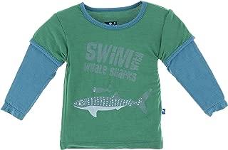 whale print long sleeve tee