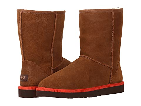 Mens Boots UGG Classic Short Leather Chestnut Leather/Sheepskin