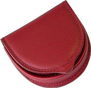 Portamonete uomo Tacco in Vera Pelle Conciata al Vegetale - Etabeta Artigiano Toscano - Made in Italy (rosso)