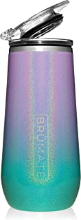 Br�Mate 12oz Insulated Champagne Flute With Flip-Top Lid - Made With Vacuum Insulated Stainless Steel (Glitter Mermaid)