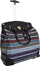 Trendy Flyer Computer/Laptop Rolling Bag 2 Wheel Case X's and O's