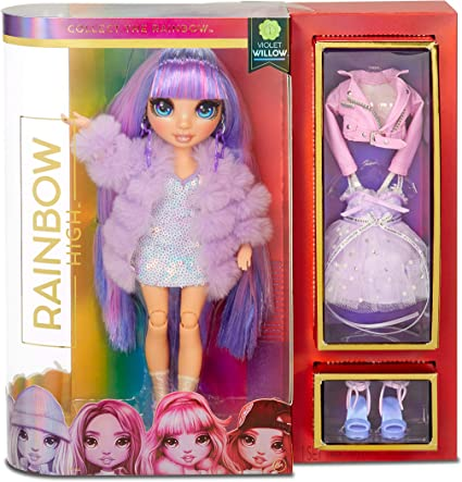 Rainbow High Violet Willow - Purple Clothes Fashion Doll with 2 Complete Mix & Match Outfits and Accessories, Toys for Kids 6 to 12 Years Old