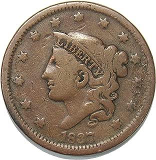 1837 Coronet Head Large Cent 1¢ VG