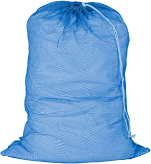Honey-Can-Do LBG-01161 Mesh Laundry Bag with Drawstring, Blue, 24-inches L x 36-Inches H