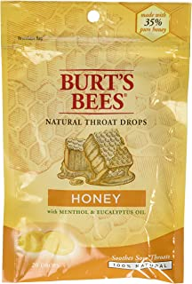 Burt's Bees Natural Throat Drops, Honey, Single Pack