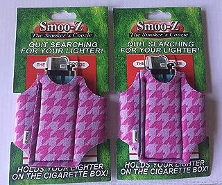 2 x Smoo-Z Cigarette and Lighter Holder PINK HOUNDSTOOTH …