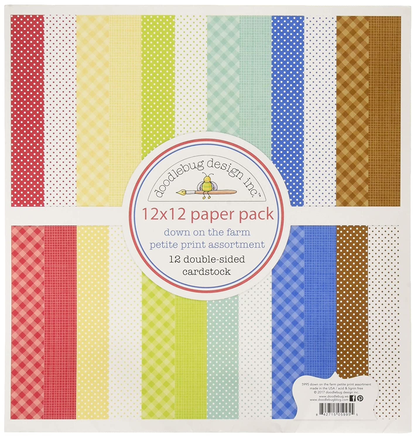 Doodlebug 5995 Double-Sided Cards, Multicolor
