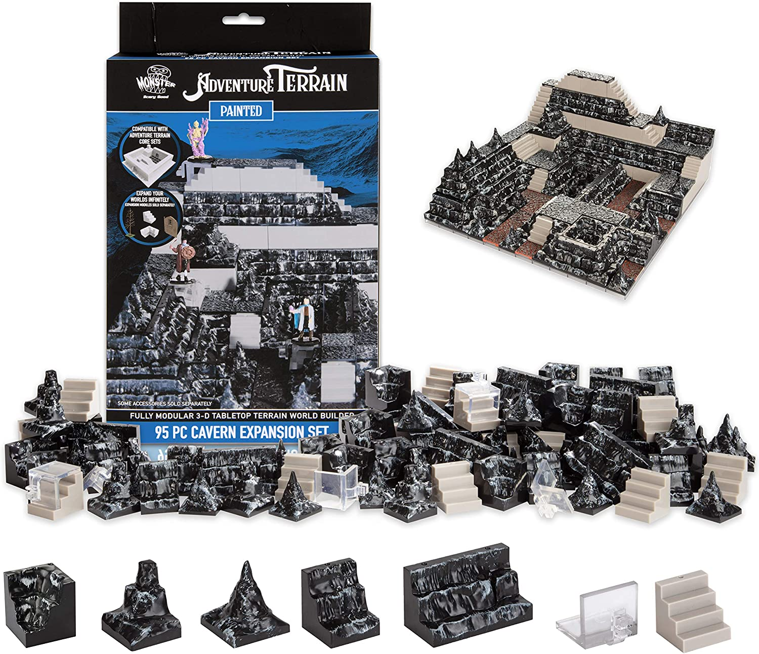 Monster Adventure Terrain - sold out 95pc Expansion Cavern Set High quality Mo Fully