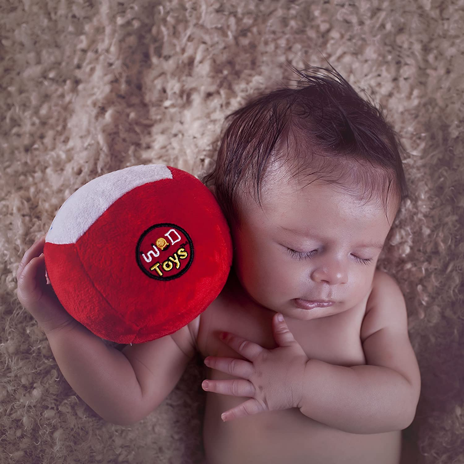 WOD Toys Baby A surprise price is realized Med Ball Plush Medball New products, world's highest quality popular! Rattle - Safe Durable with