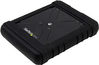 "StarTech.com USB 3.0 to 2.5"" SATA SSD/HDD Enclosure - UASP Enhanced External Hard Drive Enclosure - MIL-STD-810G Rated Cas..."