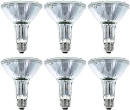Philips 419549 Halogen PAR30L 75 Watt Equivalent Flood Light Bulb for Recessed Indoor and Outdoor Fixtures, 6 Pack