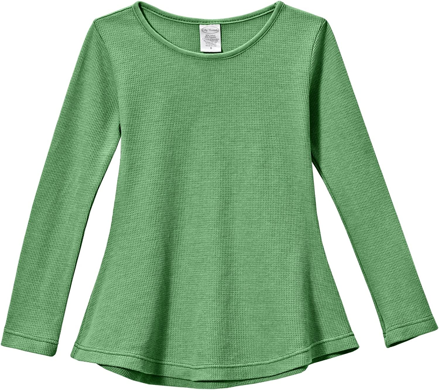 City Threads Max 42% OFF Girls Popularity Thermal Long School Tunic Shirt Sleeve for