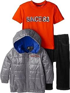 Boys' 3 Piece Outerwear Bubble Jacket Set