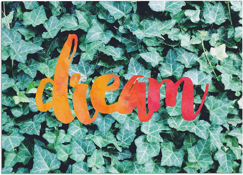 KESS InHouse CV1043ADM02 Chelsea Victoria Dream Green Typography Dog Place Mat, 24  x 15
