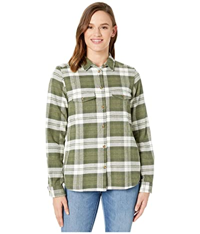 Fjallraven Ovik Heavy Flannel Shirt (Green) Women