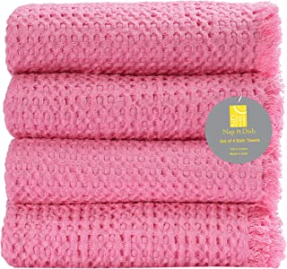 Nap n Dish Ultra Soft Set of 4 Bath Towel Set 100% Pure Cotton 27x54 Quick Dry for Everyday use Hotel Spa Quality Highly A...