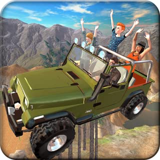 Off-Road Jeep Flying Pilot Mania 3D: 4x4 hill climb Frenzy Driving Racing Parking Simulator Adventure Mission Games Free For Kids 2018