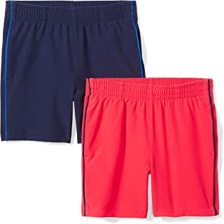 Amazon Brand - Spotted Zebra Boys' Toddler & Kids 2-Pack Active Woven Shorts