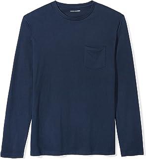 92fa2d018696 Amazon Essentials Men s Slim-Fit Long-Sleeve Pocket T-Shirt