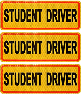 RuBao Student Driver Sign, Reflective Student Driver Magnets for Car