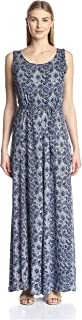 James & Erin Women's Sleeveless V-Back Maxi Dress