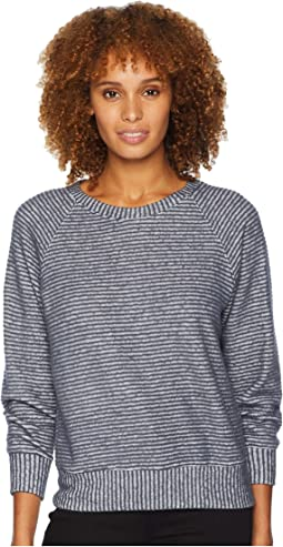 Raglan Sleeve Brushed Stripe Top