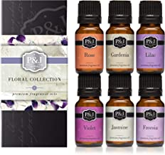 P&J Trading Floral Set of 6 Premium Grade Fragrance Oils – Violet, Jasmine,..