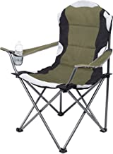 Internet's Best Padded Camping Folding Chair - Outdoor - Sports - Cup Holder - Comfortable - Carry Bag - Beach - Quad