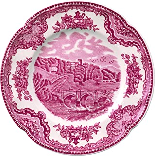 """Johnson Brothers Old Britain Castles Pink Bread & Butter Plate, 6.25"""", Pink"""