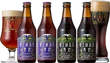 富士桜高原麦酒 クラフトビール ラオホ2本&シュヴァルツヴァイツェン2本