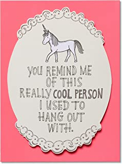 American Greetings Funny Thinking of You Card (Unicorn)