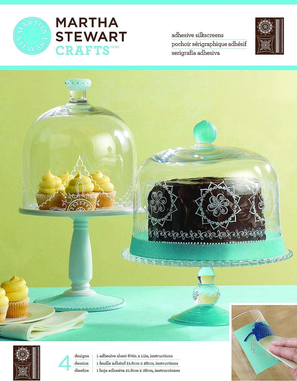 Martha Stewart Crafts Scrolls und wirbelt Glas Silkscreen, B00CIVYKG4     | Vogue