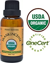 Organic Frankincense Essential Oil 30ml / 1oz - USDA Certified - Boswellia Serrata Natural Pure Undiluted Therapeutic Grade for Aromatherapy Scents Diffuser Anti Aging Relaxation Anxiety Relief