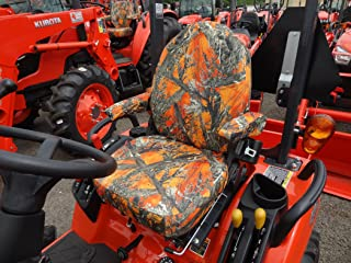 Durafit Seat Covers, KU06 MC2 Seat Covers for Tractor BX 2370 in Orange Camo
