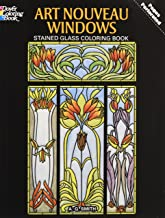 Art Nouveau Windows Stained Glass Coloring Book (Dover Design Stained Glass Coloring Book)