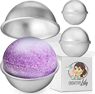 Metal Bath Bomb Molds by Creative Lily - Set of 3 Molds Small Medium Large Lightweight and Easy To Use - DIY Bath Bombs and Craft Projects