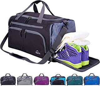 "Venture Pal 20""/24"" Packable Sports Gym Bag with Wet Pocket & Shoes Compartment Travel Duffel Bag for men and Women"