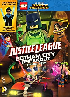 LEGO DC Comics Super Heroes: Justice League: Gotham City Breakout w/Figurine (DVD)