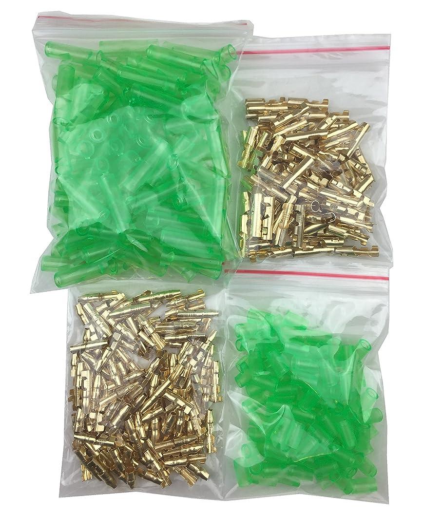 陸軍適格おいしいギボシ 端子 スリーブ 付 各100個 セット 配線加工 DIY 緑