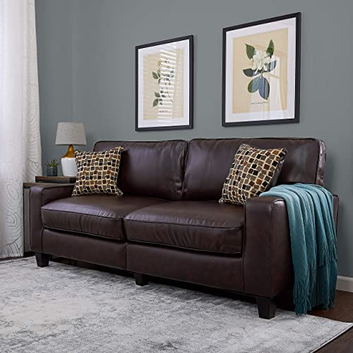Brown Leather Couches: Amazon.com