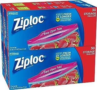 Ziploc Storage Bags, Gallon, 4 Pack, 30 ct (120 Total Bags)