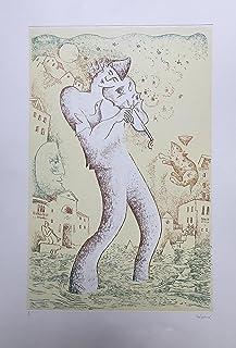 """Stamperia D'Arte Busato: """"Musico in laguna"""" - Vico Calabrò - incisione a ceramolle stampata a mano con il torchio a stell..."""